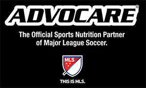 ADVOCARE – The Official Sports Nutrition Partner of Major League Soccer. This is MLS.